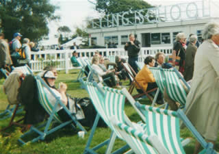 Deckchairs at Goodwood Revival